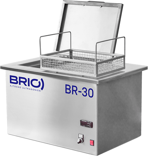 BR-30-WT desktop industrial ultrasonic cleaning equipment with basket