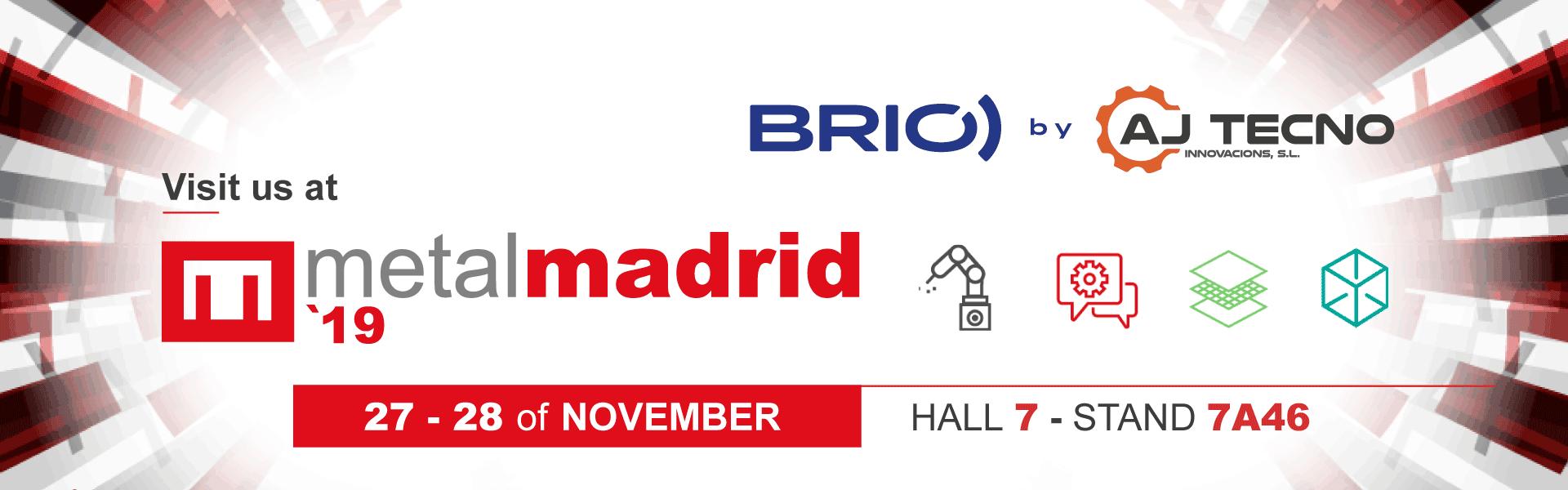 Header news BRIO ultrasonic cleaning Metalmadrid 2019 fair