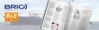 Cabecera publicación sobre mantenimiento naval y ultrasonidos BRIO