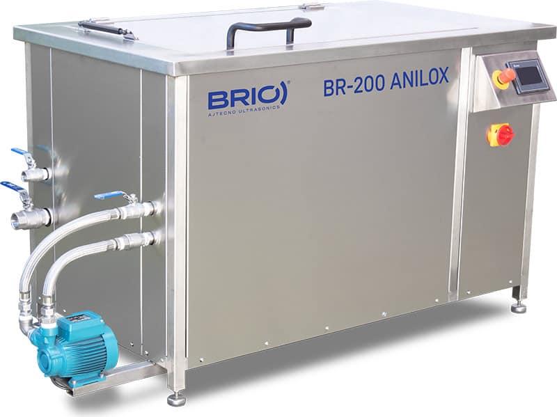 Maquina para la limpieza por ultrasonidos de rodillos anilox de 200 litros de capacidad. BR-200 ANILOX